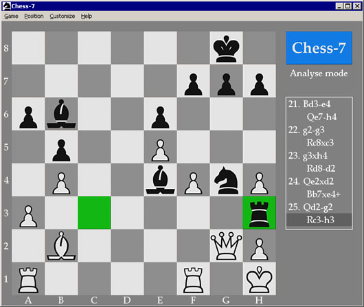 Click to view Chess-7 4.0 screenshot