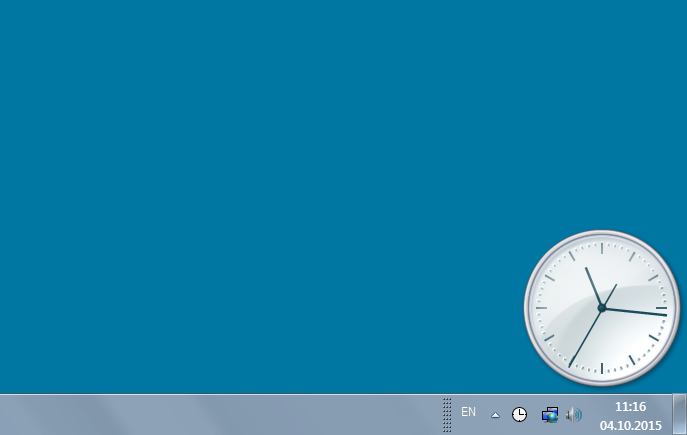 windows 7 how to get a clock overlay